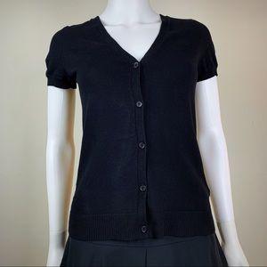 H&M Short Sleeve Black Cardigan